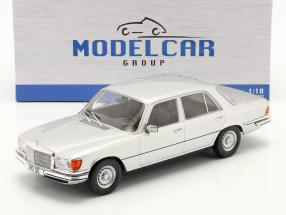 Mercedes-Benz 280 SE (W116) Construction year 1972 silver 1:18 Model Car Group