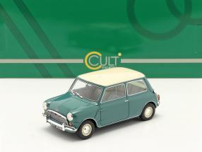 Austin Mini Cooper MKI year 1961-1963 green / white 1:18 Cult Scale
