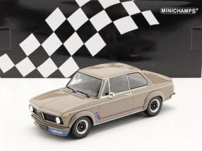 BMW 2002 Turbo (E20) year 1973 grey-brown 1:18 Minichamps