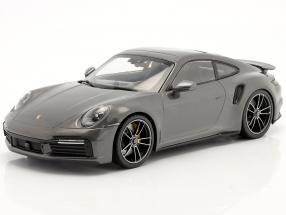 Porsche 911 (992) Turbo S year 2020 grey metallic 1:18 Minichamps
