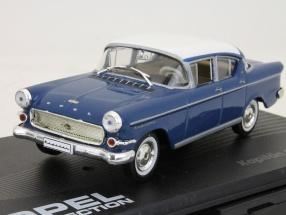 Opel Kapitän P1 Limousine Bj. 1958-1959 blau / weiß 1:43 Ixo Altaya