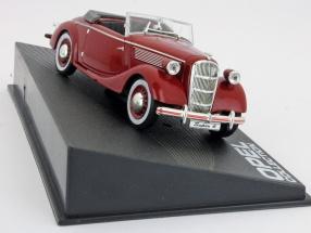 Opel Super 6 Bj. 1937-1938 weinrot / wine red 1:43 Ixo Altaya