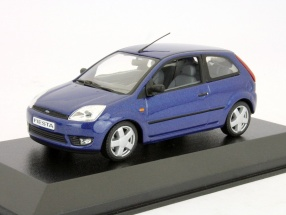 Ford Fiesta 3-door Year 2001 blue metallic 1:43 Minichamps