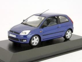 Ford Fiesta 3-door Year 2001 blue metallic 1:43 Minichamps