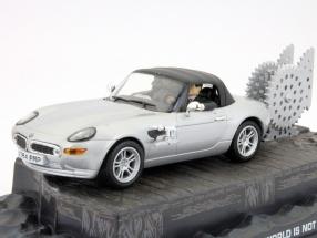BMW Z8 James Bond movie The World Is Not Enough Car Silver 1:43 Ixo