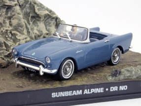 Sunbeam Alpine Car James Bond movie Dr. No 007 Violet 1:43 Ixo