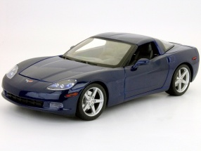 Chevrolet Corvette year 2005 blue 1:18 Maisto