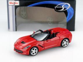 Chevrolet Corvette Stingray Cabriolet Year 2014 red 1:24 Maisto
