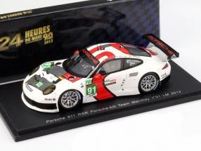 Porsche 911 RSR #91 24 LeMans 2013 Porsche AG Team Manthey 1:43 Spark