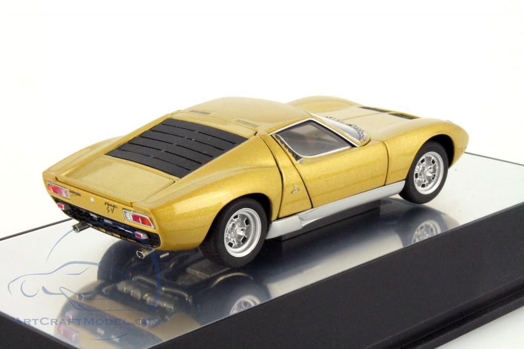Lamborghini Miura Sv Year 1971 Gold 54545 Ean 674110545456