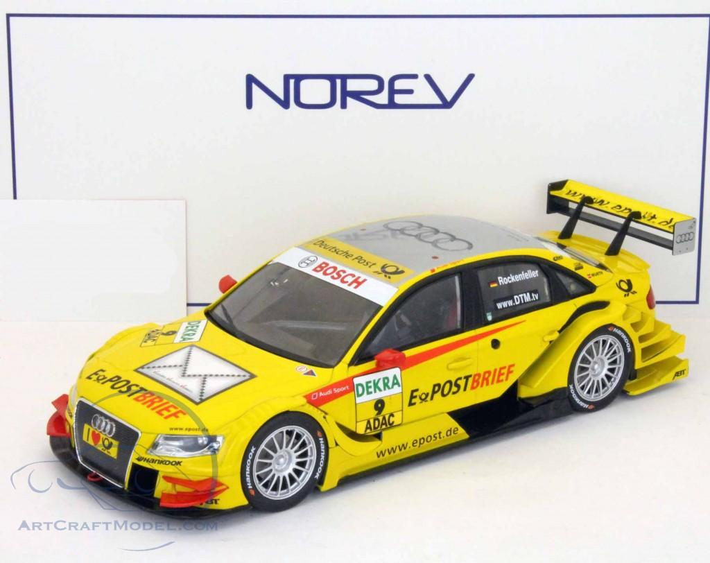 1:18 Norev Audi A4 #9 DTM Rockenfeller 2011 E-Postbrief