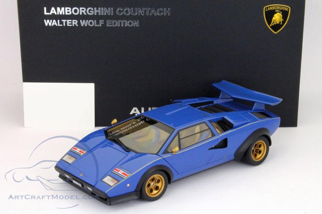 Lamborghini Countach Lp500s Walter Wolf Edition Blue 74652 Ean