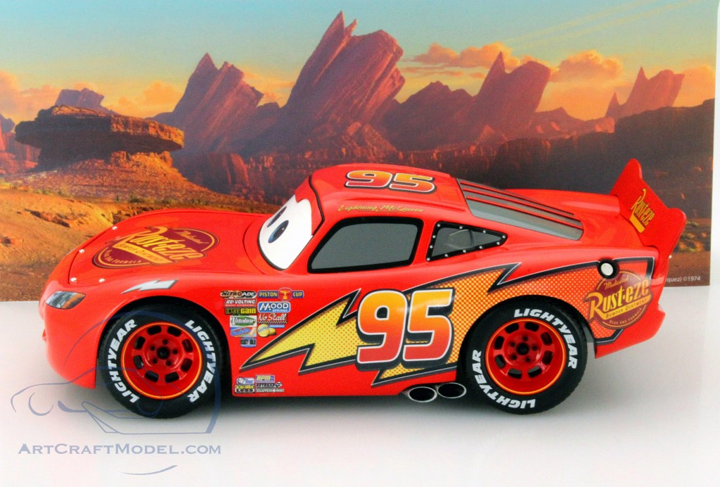 Lightning Mcqueen From The Disney Movie Cars With Showcase Red