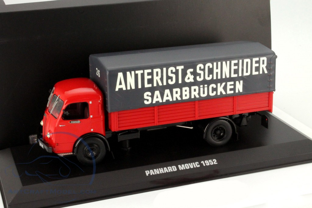 Panhard Movic Truck Anterist And Schneider Saarbrücken Red Gray