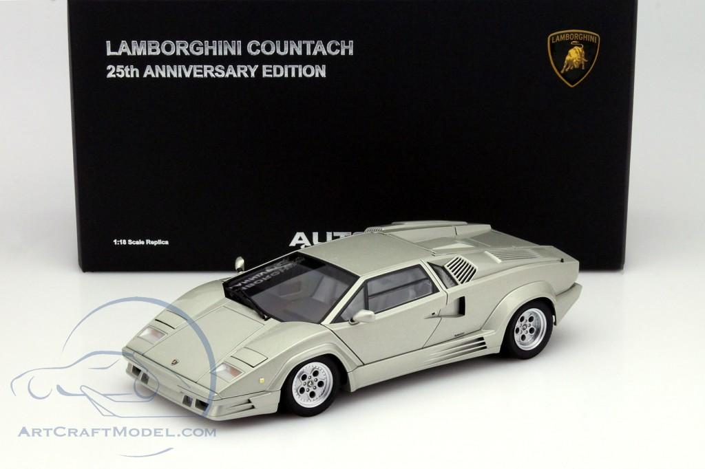 Lamborghini Countach 25th Anniversary Edition 1990 Silver Metallic