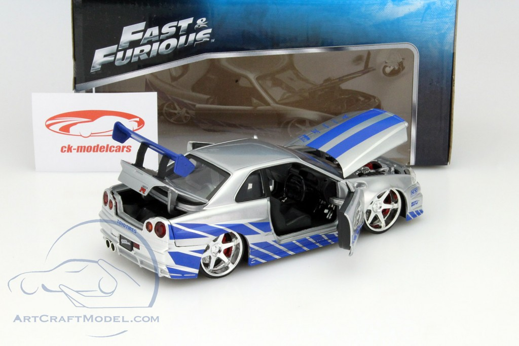 Nissan Skyline GT R R34 Out The Movie 2 Fast Furious 2003 Jada Toys