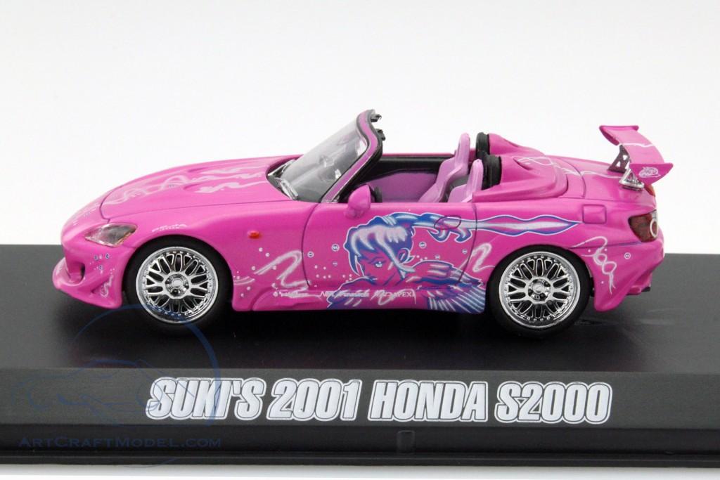 Fast /& Furious Modellauto 1:43 // Greenlight Honda S2000 2001 pink Suki