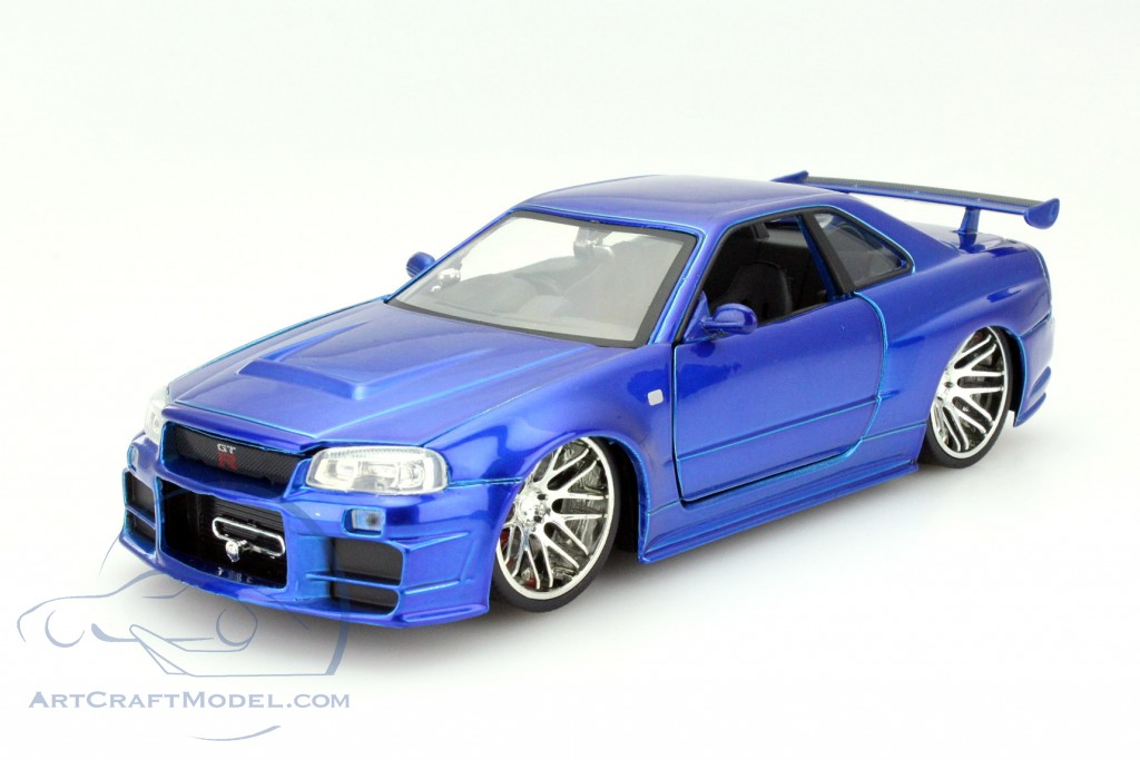 Brian S Nissan Skyline Gt R R34 Fast And Furious Blue Jada Toys
