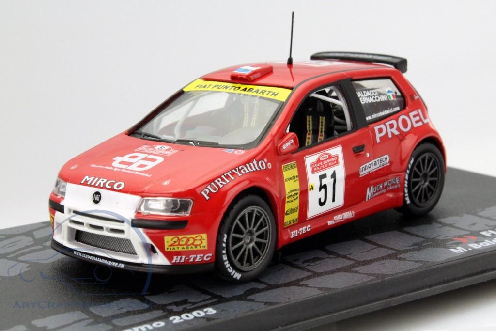 Fiat Punto S1600 51 Rally Sanremo 2003 Baldacci Bernacchini Mag