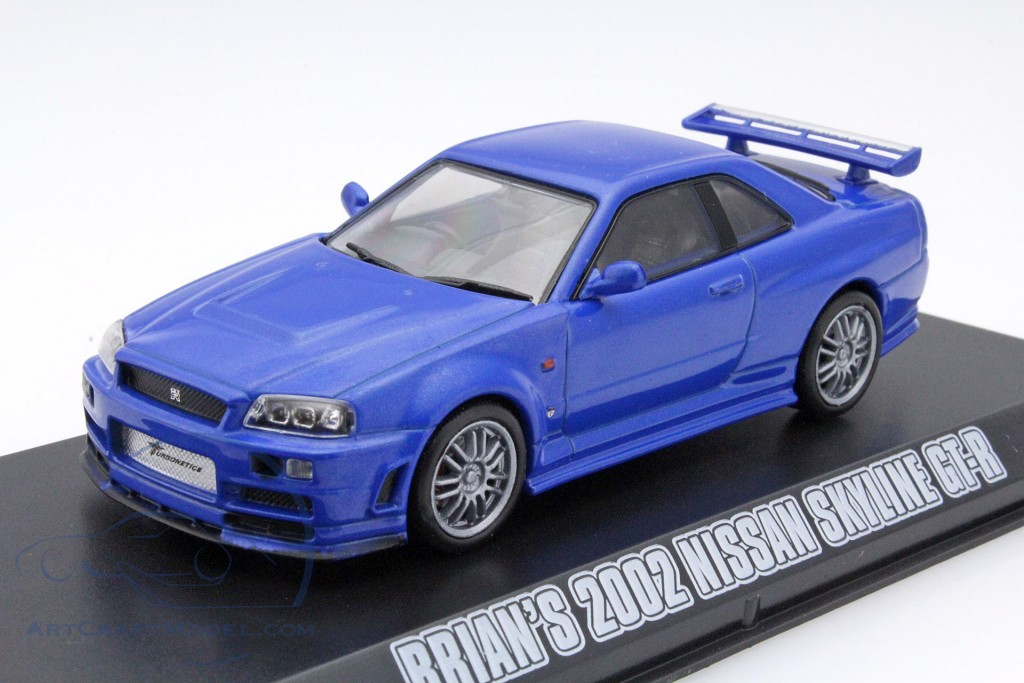 Brians Nissan Skyline Gt R Fast Furious 4 2009 Blue 86219 Ean