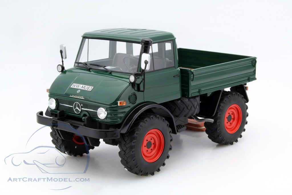 mercedes benz unimog 406 pritsche with plans dark green. Black Bedroom Furniture Sets. Home Design Ideas
