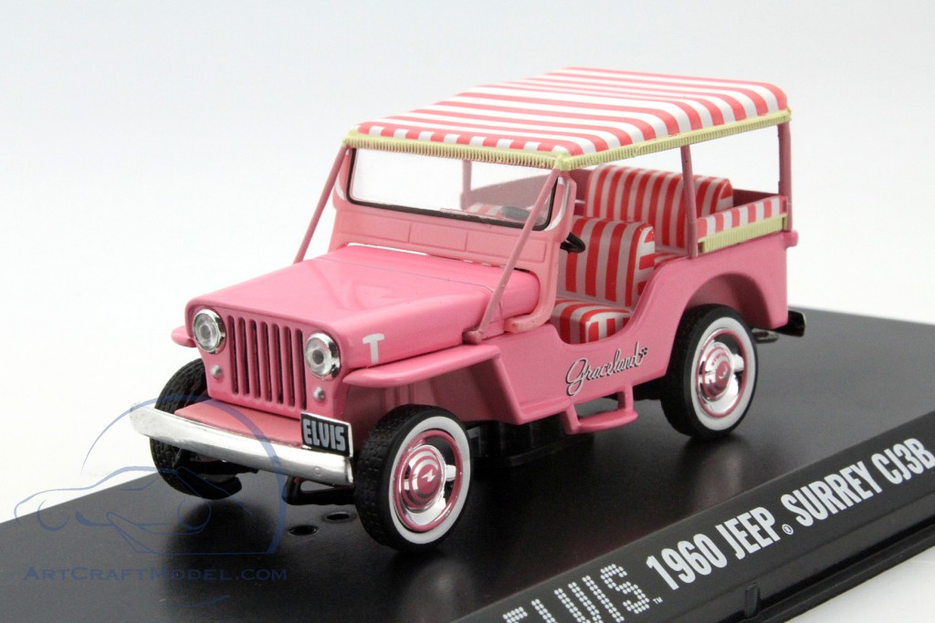 jeep surrey cj3b elvis year 1960 pink 86472 ean. Black Bedroom Furniture Sets. Home Design Ideas