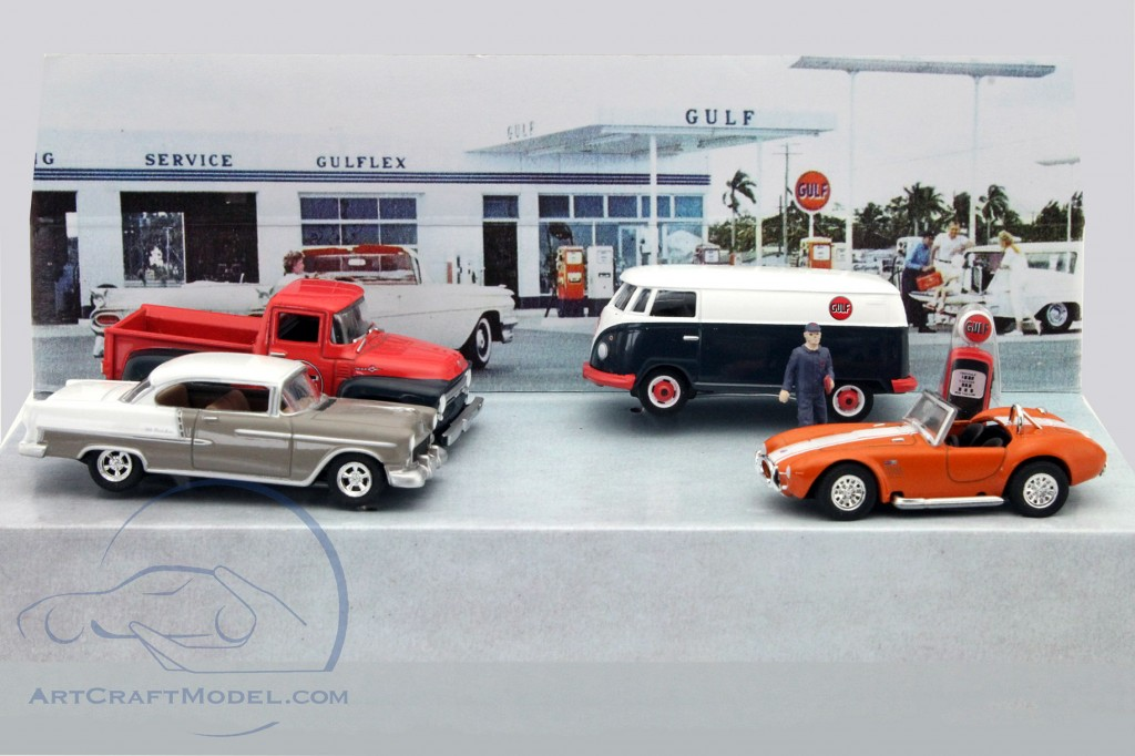 5-Car Set Gulf Oil Vintage Gas Station