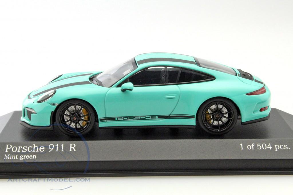 Porsche 911 (991) R year 2016 mint green