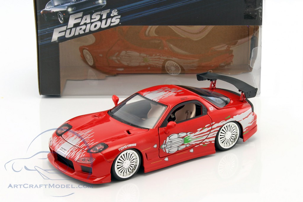 mazda rx7 fast and furious. domu0027s mazda rx7 fast and furious red jada toys rx7