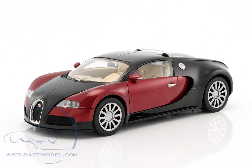 bugatti eb 16.4 veyron baujahr 2006 schwarz / dunkelrot - 70909, ean