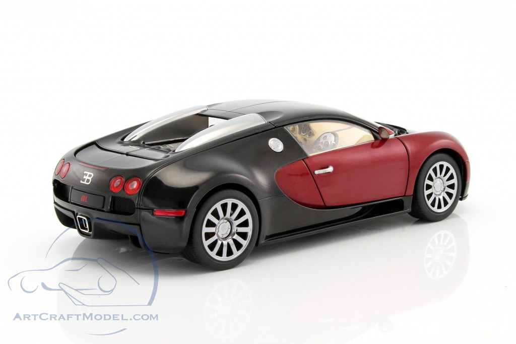 bugatti eb 16 4 veyron year 2006 black dark red 70909 ean 674110709094. Black Bedroom Furniture Sets. Home Design Ideas