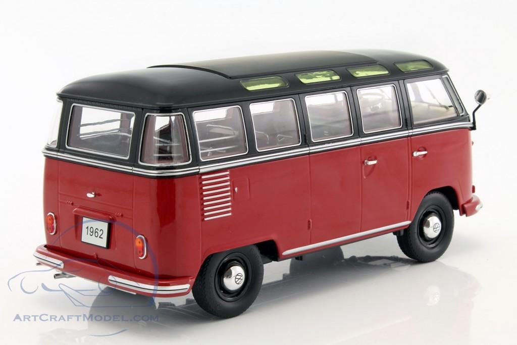 volkswagen vw bulli t1 samba year 1962 red black. Black Bedroom Furniture Sets. Home Design Ideas
