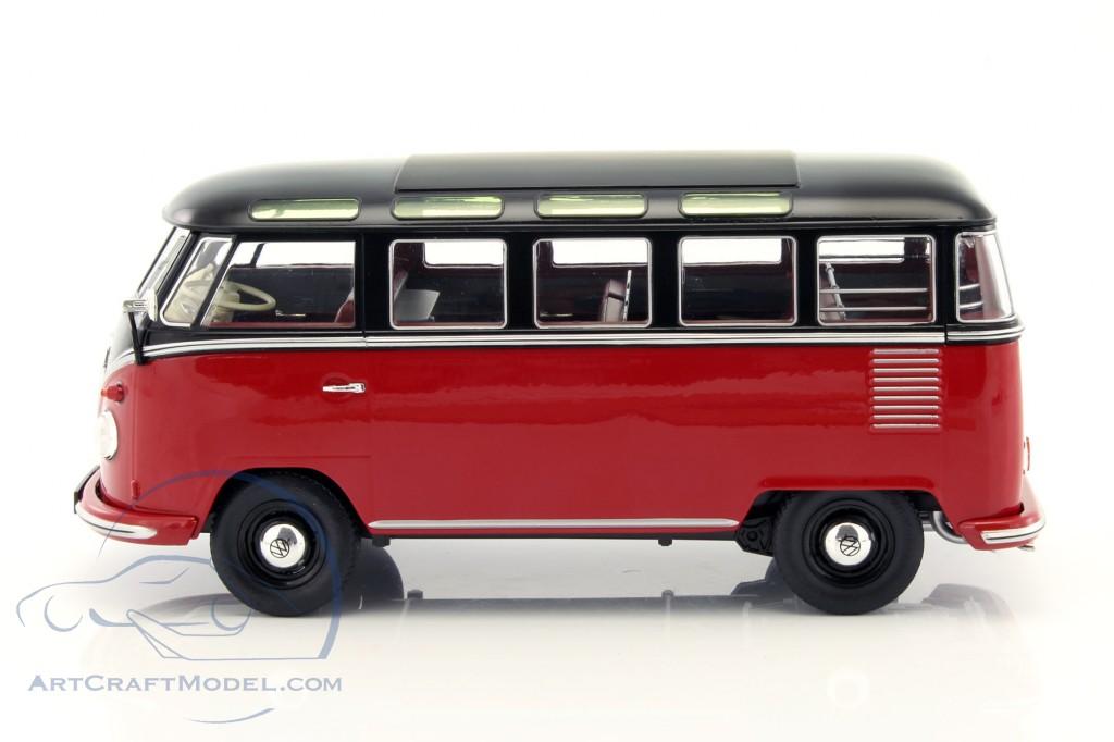 volkswagen vw bulli t1 samba year 1962 red black kkdc180153. Black Bedroom Furniture Sets. Home Design Ideas