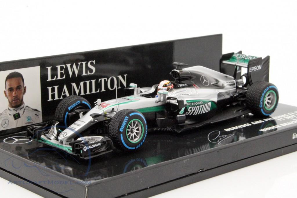 Mercedes F1 Lewis Hamilton  Winner Abu Dhabi GP 2016 1:43 Scale Minichamps
