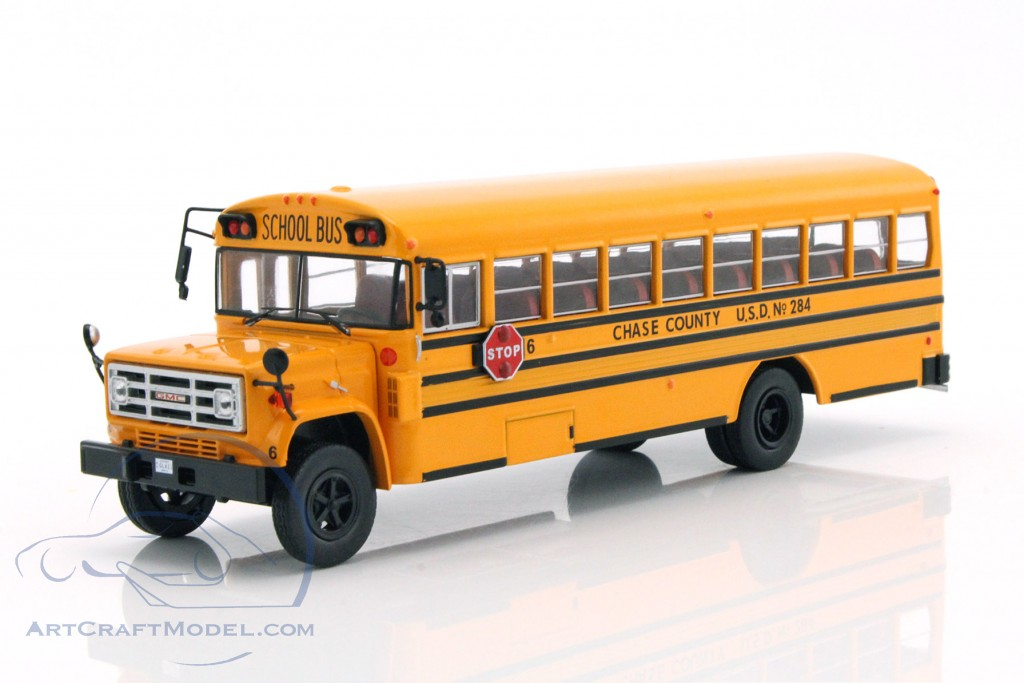 Gmc 6000 School Bus Usa Year 1990 Yellow Bus004 Ean