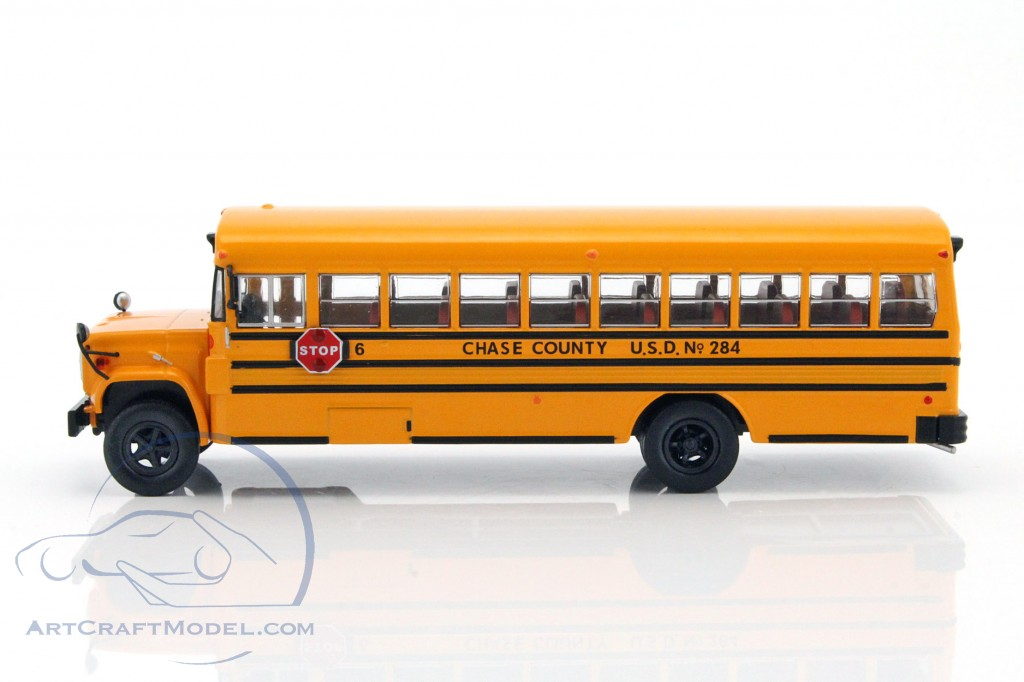 Gmc 6000 School Bus Usa Year 1990 Yellow Bus004 Ean