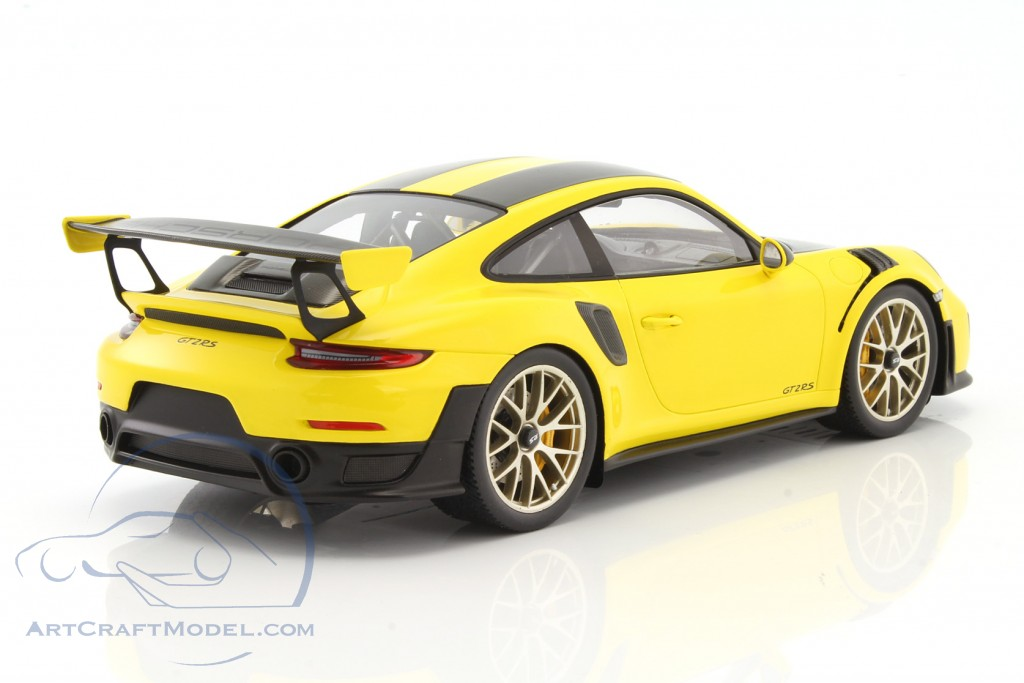 porsche 911 991 ii gt2 rs weissach package year 2017 yellow black with showcase wap0211520j. Black Bedroom Furniture Sets. Home Design Ideas