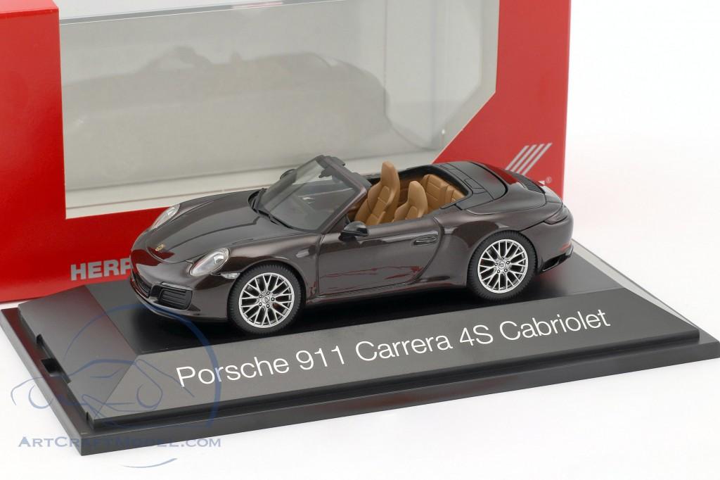 1//43 Herpa Porsche 911 Carrera Cabrio schwarz
