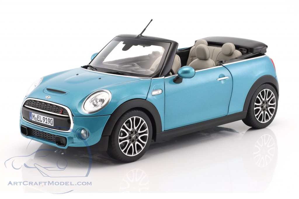 mini cooper s cabriolet f57 year 2016 blue metallic. Black Bedroom Furniture Sets. Home Design Ideas
