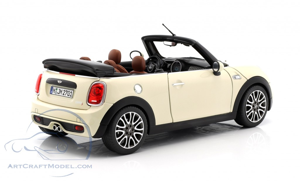 Mini Cooper S Cabriolet F57 Year 2016 Pepper White