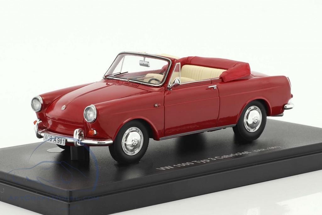 Volkswagen Vw 1500 Typ 3 Cabriolet Construction Year 1961 Red 60003
