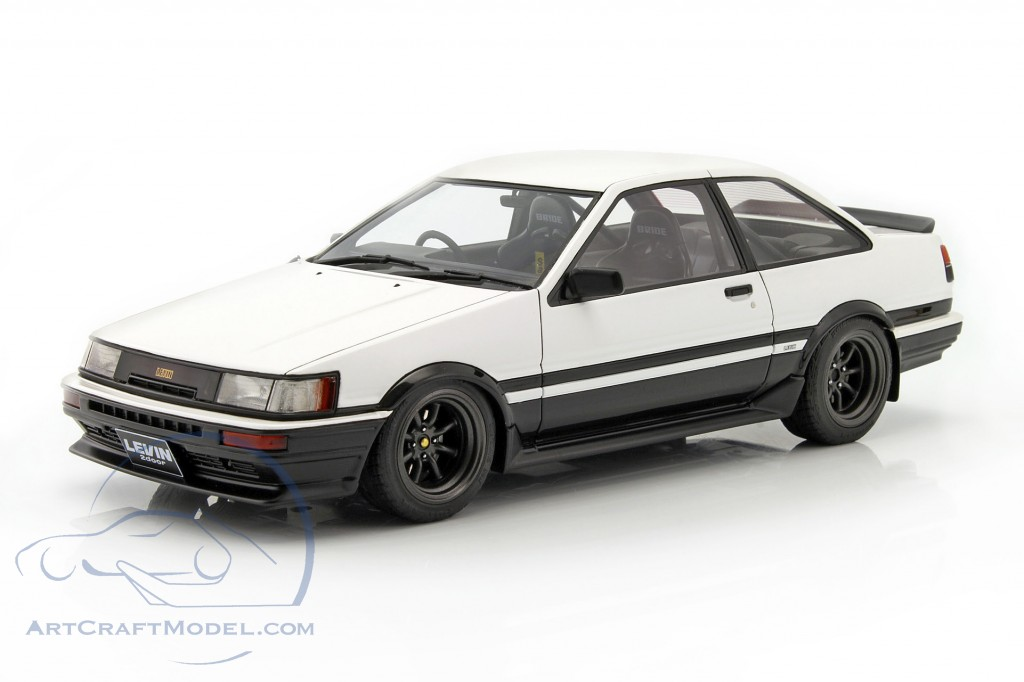 toyota corolla levin ae86 2 door gt apex white black. Black Bedroom Furniture Sets. Home Design Ideas