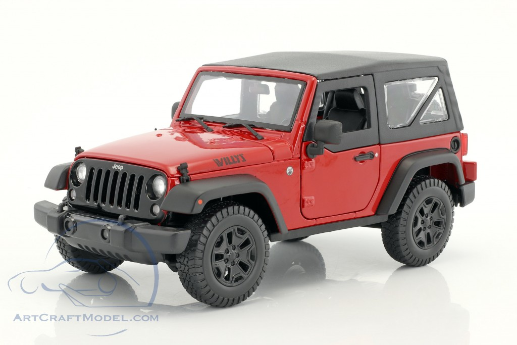 jeep wrangler willys year 2014 red black 31676 ean 090159316763. Black Bedroom Furniture Sets. Home Design Ideas