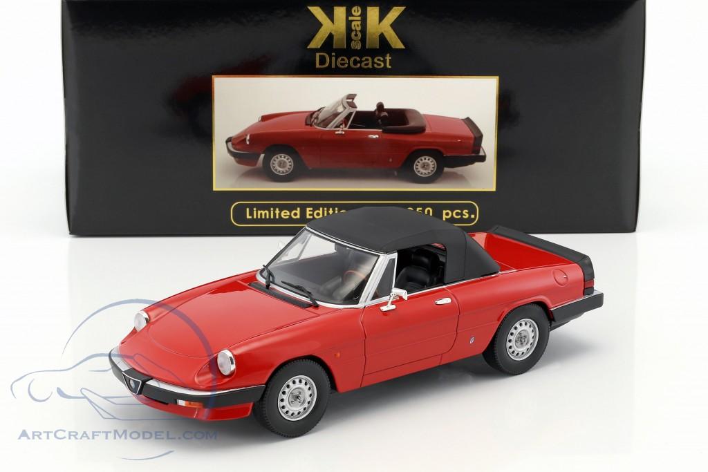1:18 KK-Scale Alfa Romeo Spider 3 Serie 1 1983 rot