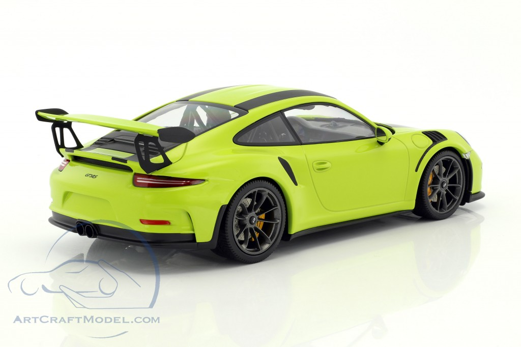 Porsche 911 991 Gt3 Rs Year 2015 Light Green With Black