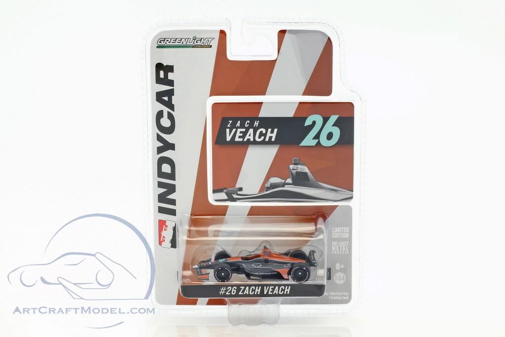 GreenLight 1//64 2018 #26 Zach Veach Andretti Autosport One Thousand One 10802