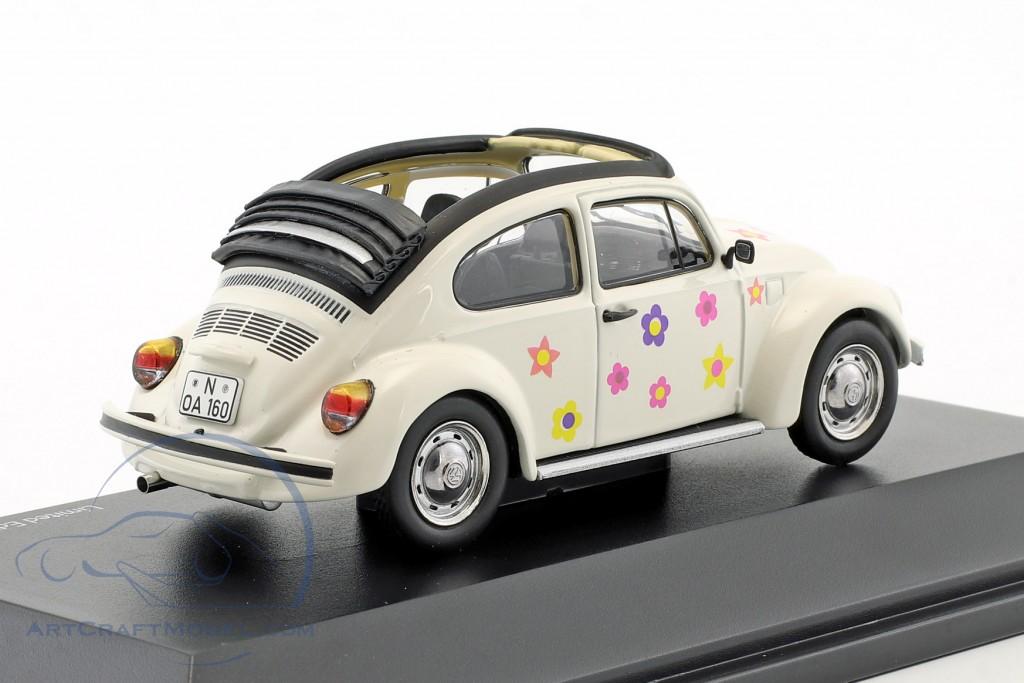 Schuco 1:43 VW Käfer Apen-Air Blumendekor weiß