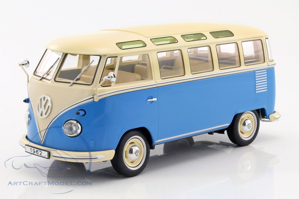 volkswagen vw bulli t1 samba year 1962 blue cream kkdc180152. Black Bedroom Furniture Sets. Home Design Ideas