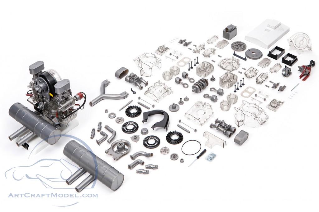 Porsche Carrera Racing Engine 4 Cylinder Boxer Model Type