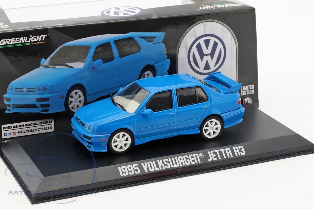 1:43 GreenLight VW Jetta a3 1995 red